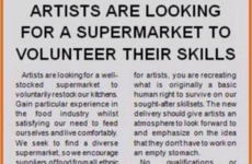 This artist had the best response to a supermarket's controversial 'volunteer artist' ad