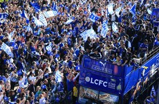 Incredible scenes as 100,000 fans line the streets for Leicester's trophy parade
