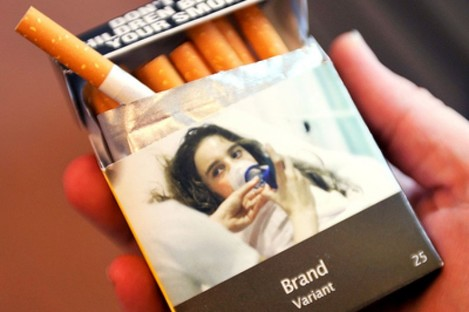 An example of Australia plain-packaged cigarettes