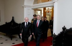 State reception held for President Higgins at Dublin Castle