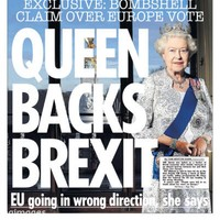"""The Sun defends """"significantly misleading"""" front page about Queen backing Brexit"""
