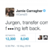 'Sign a f***ing left-back!' - Carragher lashes out at Moreno's performance, then deletes tweet
