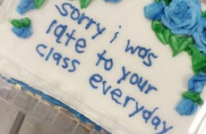 This girl made a brilliant cake for her teacher to say sorry for being late all year