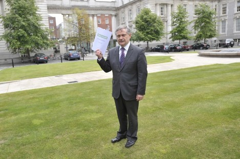 Brendan Howlin following Croke Park Agreement talks last June.