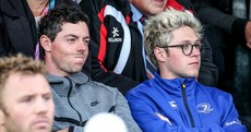 Snapshot: Rory McIlroy takes a break from the Irish Open to attend Leinster-Ulster
