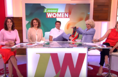 This actor completely snotted himself trying to walk in heels on live TV