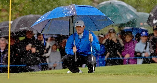 McIlroy hits the front at the Irish Open as play suspended for the second time