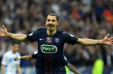 Ibrahimovic bids farewell to PSG with double in French Cup final victory