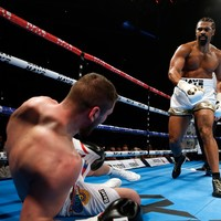 David Haye's comeback continues with second-round KO in London