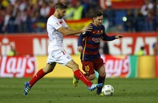 This unbelievable Messi pass was the highlight as Barcelona completed the double