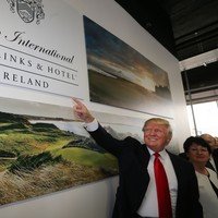 Donald Trump cites global warming as reason to build his Atlantic wall in Co Clare