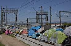Greek police evacuating refugee camp containing over 8,000 people