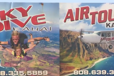 The group was believed to have been part of a tour operated by SkyDive Kauai.