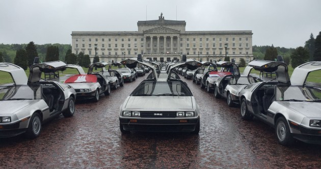 70 DeLoreans cruised through Belfast this afternoon