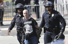 35 people arrested at Trump rally in California