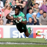 Niyi Adeolokun's sensational try one of the highlights of Connacht's memorable Pro12 win