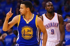 Thompson, Curry help Warriors stay alive