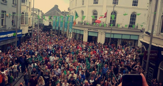 Galway crowds belt out Fields of Athenry to welcome Connacht heroes home