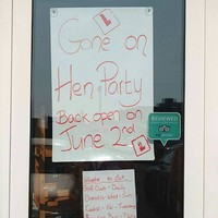 This café in Ballybunion has shut up shop for a very Irish priority