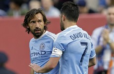 Andrea Pirlo and David Villa combined for a magical goal last night for New York City