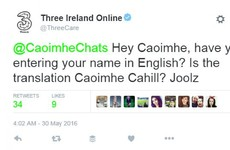 Anyone with a fada in their name will relate to this Irish girl's struggles with Three