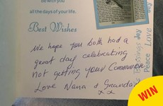 This 'non-First Holy Communion' card from an Irish granny is just wonderful