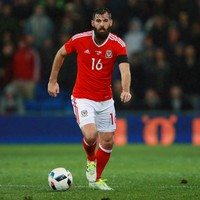 Joe Ledley included in Wales' Euro squad three weeks after fracturing his leg