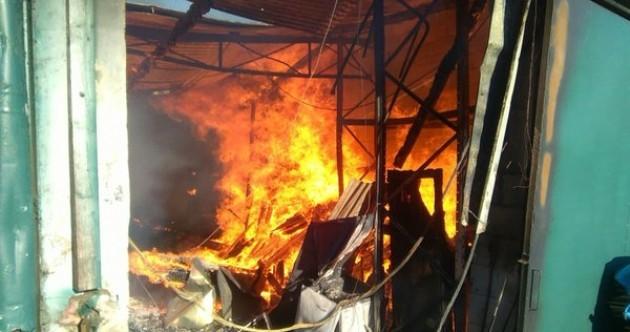 Firefighters battle industrial blaze in Dublin