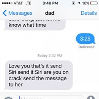 This dad's hilarious attempt to send a text with Siri is going viral