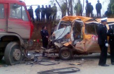 Minibus crash kills 17 pre-school children in China