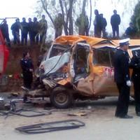 Minibus crash kills 17 pre-school children in China