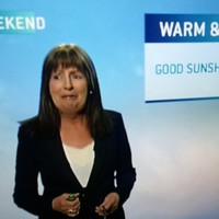 Evelyn Cusack was caught rapid making the best 'Whoops!' face ever on live TV