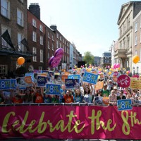 Hundreds turn out for 'Celebrate the 8th' anti-abortion event in Dublin
