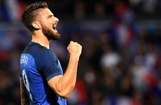 This beautiful Olivier Giroud finish was the highlight of France's easy win over Scotland