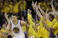 Warriors halfway to title repeat after routing Cavs