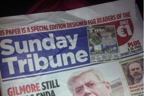 The wraparound used on the front of the Irish Mail on Sunday on 6 February last