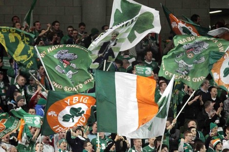 Irish fans have turned out in big numbers during past major tournaments.