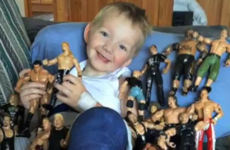A campaign wants you to give old wrestling toys to a five-year-old boy who has cancer