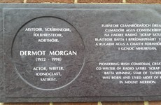 A wonderful plaque honouring Dermot Morgan has been unveiled in Dublin