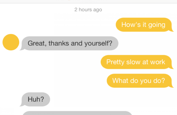 How to message a girl on a dating app