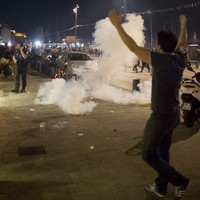 French police set off teargas to disperse English hooligans in Marseille