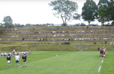 The five-tiered Haka wall that surrounds this school's rugby pitch is more than a bit intimidating