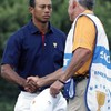 Shake on it... Tiger and Steve Williams face off at President's Cup