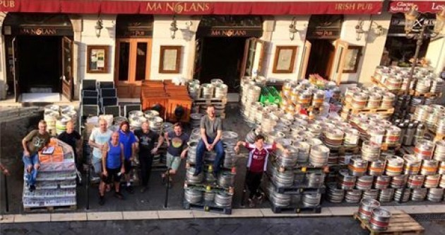 This Irish pub in Nice has seriously stocked up for the Euros crowd