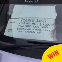 This driver came up with the most Irish excuse to get out of a clamping