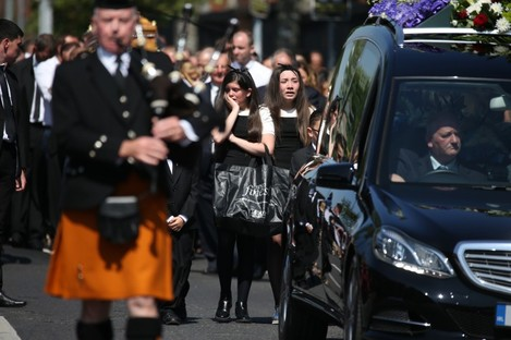 The funeral of Gareth Hutch earlier this month.