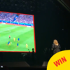 Adele stopped her concert last night to watch a bit of the footy
