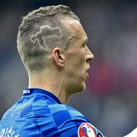 Croatia's Ivan Perisic is very, very patriotic and has the haircut to prove it
