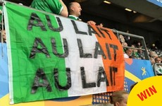 Some of the flags displayed by Irish fans in Paris tonight were pure genius