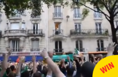 Irish fans found a new idol in this unsuspecting man on a Paris balcony